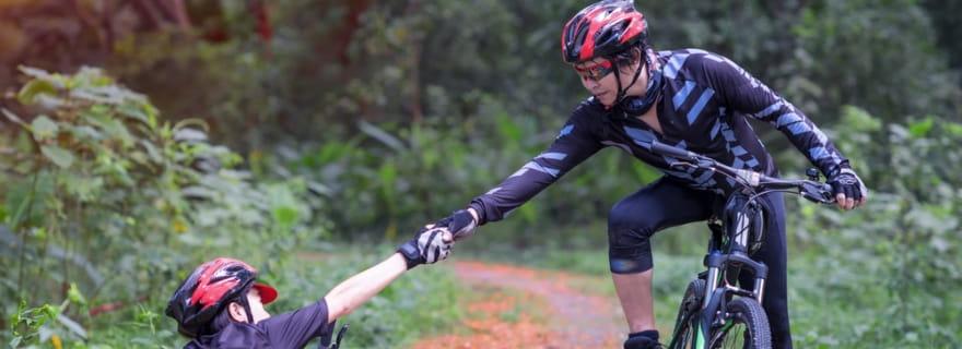 ¿Qué pasa en un accidente entre dos ciclistas?